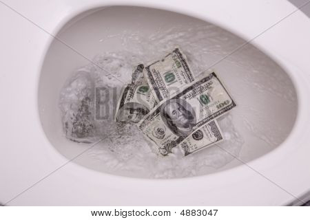 Flushing Money Down Toilet 5