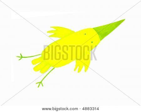 Abstract Yellow Bird
