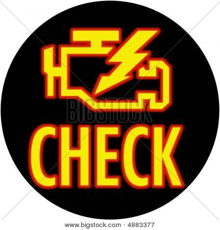 Check Engine Light Round