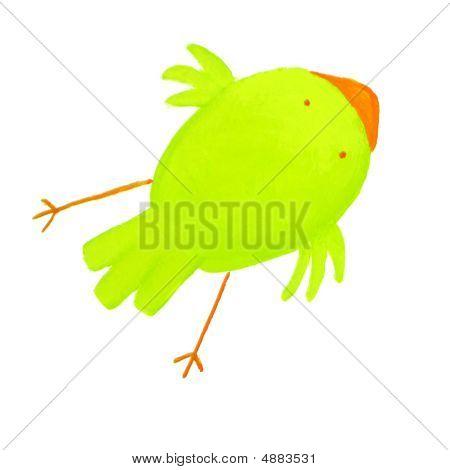 Abstract Green Bird