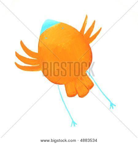 Abstract Orange Bird