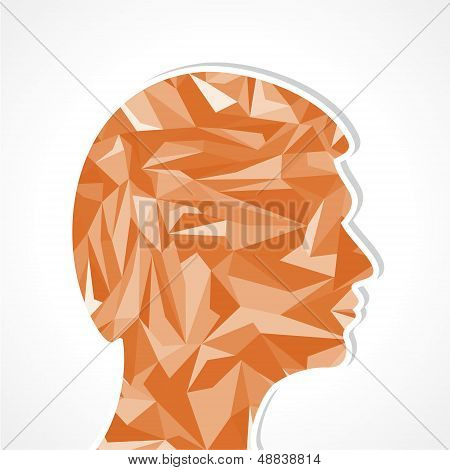 Human head-Abstract illustration of triangles