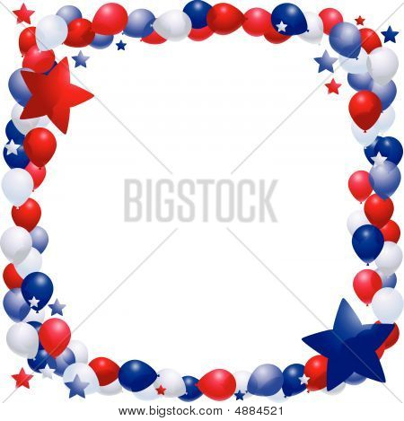 Patriotic Balloon Frame