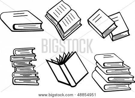 books illustrations set