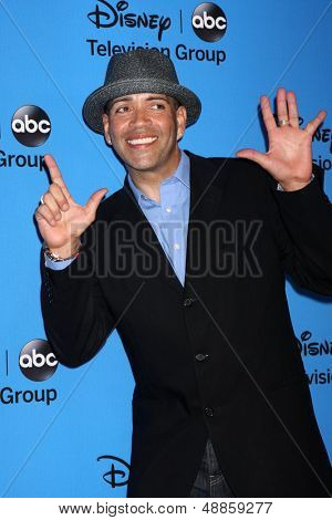 LOS ANGELES - AUG 4:  Luis Antonio Ramos arrives at the ABC Summer 2013 TCA Party at the Beverly Hilton Hotel on August 4, 2013 in Beverly Hills, CA
