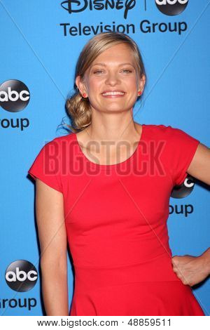 LOS ANGELES - AUG 4:  Anastasia Phillips arrives at the ABC Summer 2013 TCA Party at the Beverly Hilton Hotel on August 4, 2013 in Beverly Hills, CA