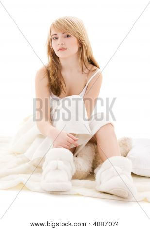 Teenage Girl In Bed