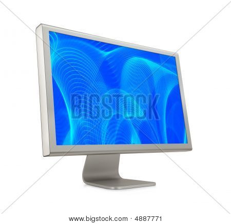 Computer Monitor With Blue Display