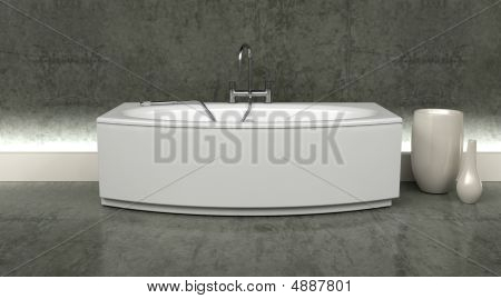 Modern Bath And Taps With Shower Attatchment In Contemporary  In