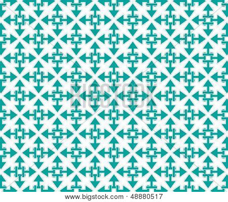 background or texture arrows starshaped pattern emerald color poster