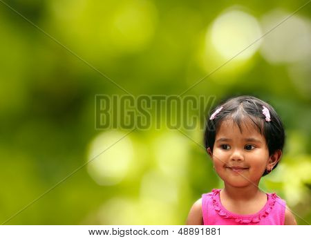 Pretty Young Indian Girl Kid In Happy And Joyful Mood