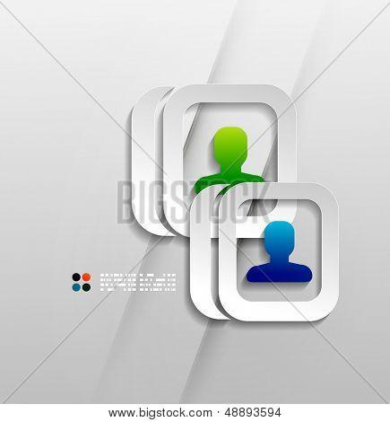Vector user contacts paper design
