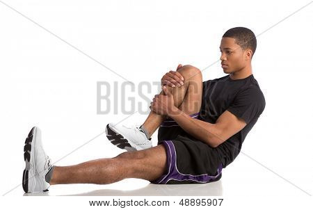Healthy Looking Happy Young African American Male Athlete Ready Workout