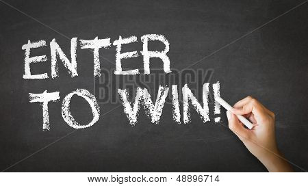 Enter To Win Chalk Illustration