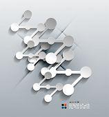 Vector 3d paper connection modern design poster