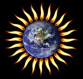 World on fire our planet is turning into a Sun. poster