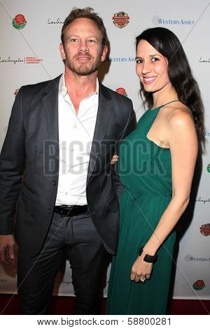 LOS ANGELES - JAN 5:  Ian Ziering, Erin Kristine Ludwig at the BCS National Championship Party at Pasadena Convention Center on January 5, 2014 in Pasadena, CA