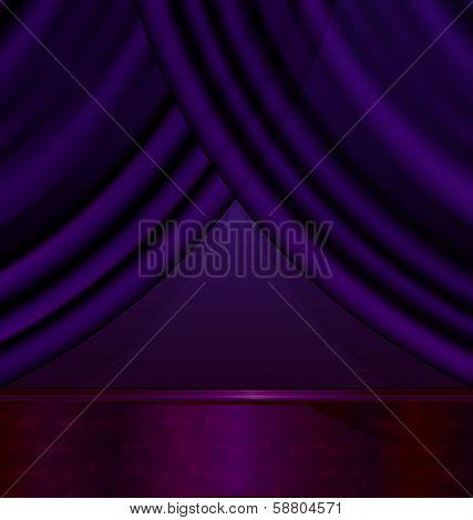 empty violet room