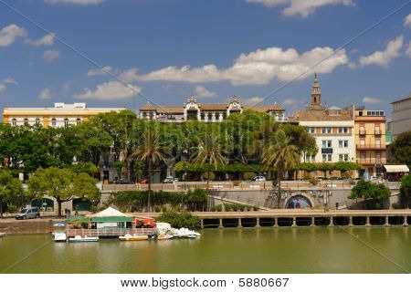 Sevilla view from the river Spain