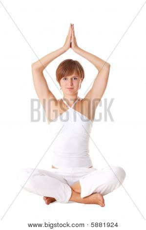 Attractive Woman Doing Exercise