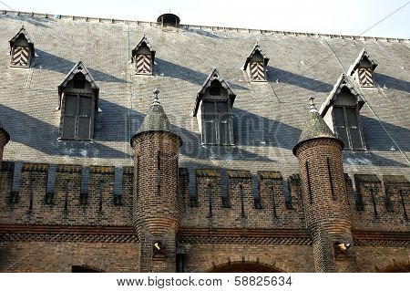 The roof of the building of the Dutch Parliament