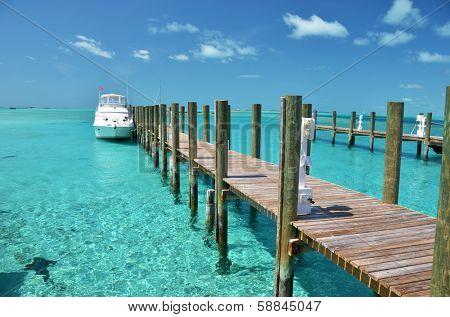 Staniel Cay yacht club. Exumas, Bahamas  poster