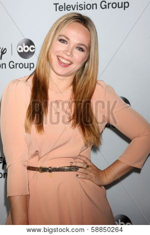 LOS ANGELES - JAN 17:  Amanda Fuller at the Disney-ABC Television Group 2014 Winter Press Tour Party Arrivals at The Langham Huntington on January 17, 2014 in Pasadena, CA