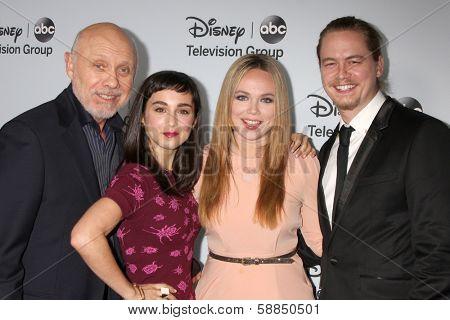 LOS ANGELES - JAN 17:  Hector Elizondo, Molly Ephraim, Amanda Fuller, Christoph Sanders at the ABC TCA Winter 2014 at The Langham Huntington on January 17, 2014 in Pasadena, CA