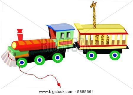 Circus Train With Giraffe