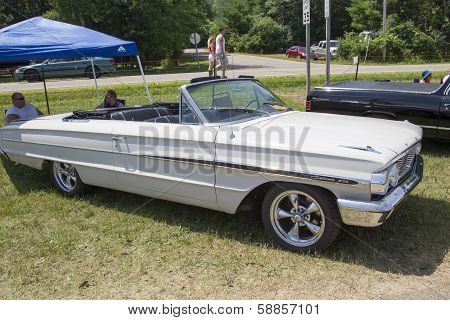 1964 White Ford Galaxie 500 Convertible