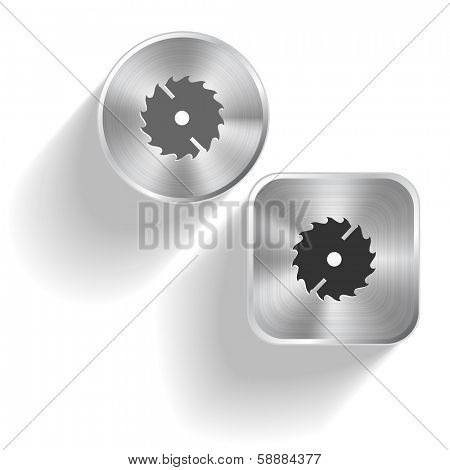 Circ saw. Raster set steel buttons