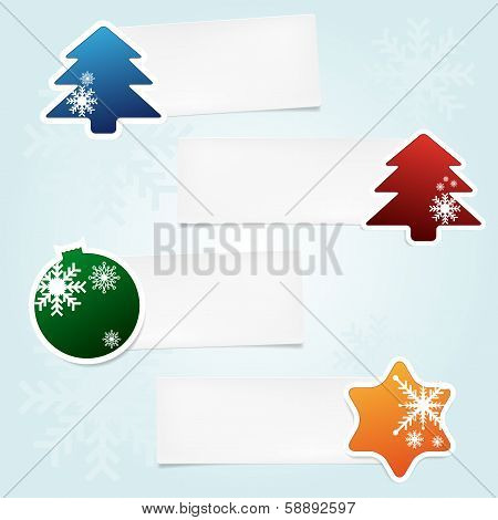 Set of christmas stickies with place for your text