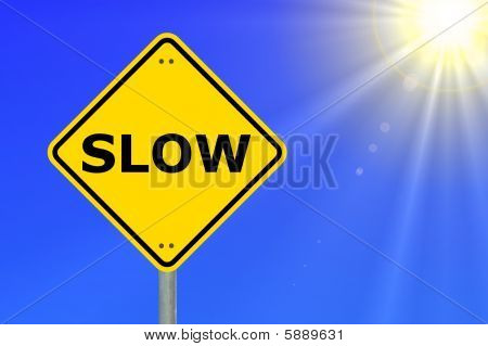 slow speed is more secure to achive your goals poster