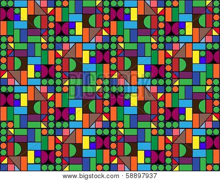 Colorful geometric puzzle background