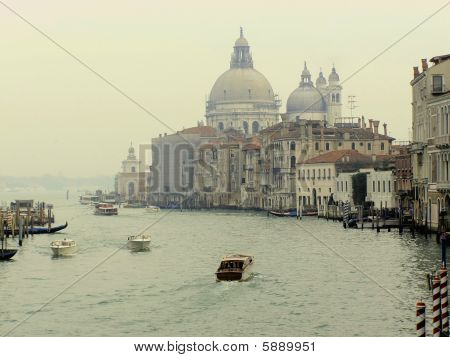 A high dynamic range (HDR) image of Canal Grande in Venice, Italy poster
