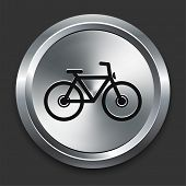 Bicycle Icon on Metallic Button Collection poster