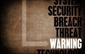 Warning Computer Security Threat and Protection poster