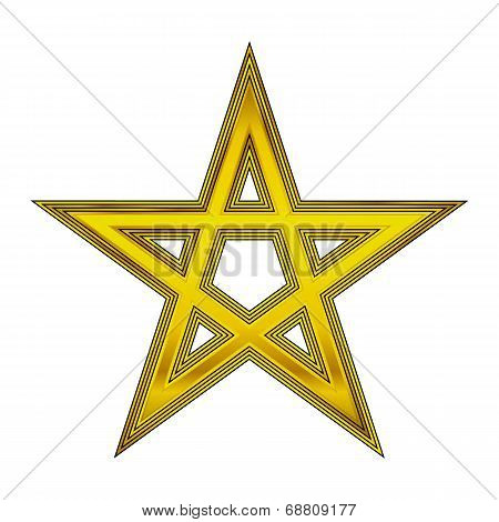 Gold Pentagram Icon