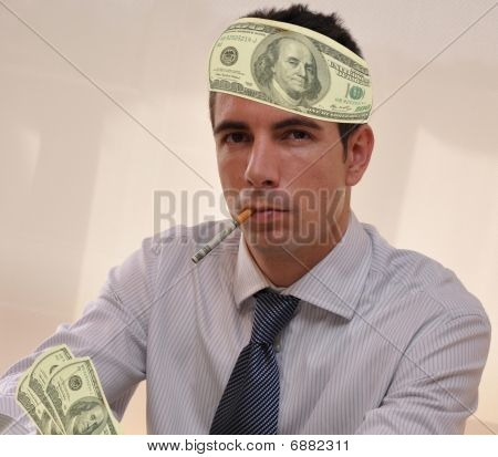 Latin Businessman with money