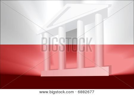 Flag of Poland national country symbol illustration government legal administration poster