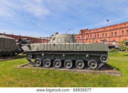 Soviet Amphibious Self-propelled 120 Mm Mortar 2S9 Nona-s