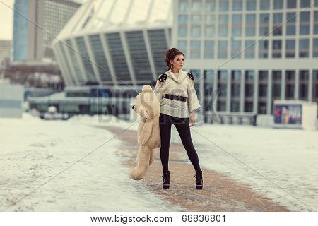 Girl With A Bear.