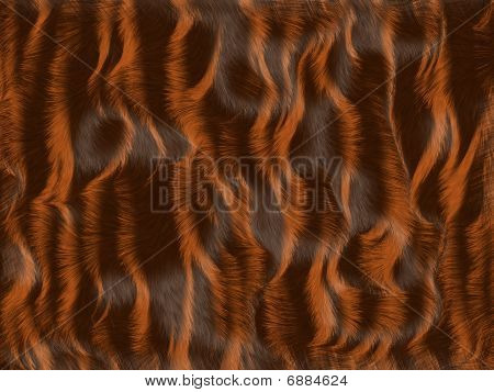 Brown And Red Fur Background illustration in warm tones poster