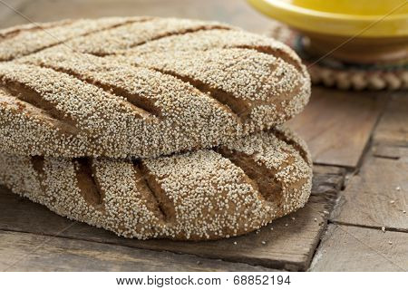 Fresh baked Moroccan semolina bread