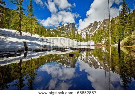 Tyndall Creek close to Dream Lake at the Rocky Mountain National Park, Colorado, USA