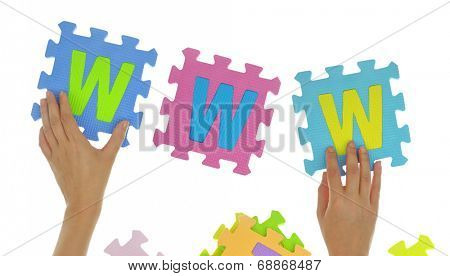 Hands forming word
