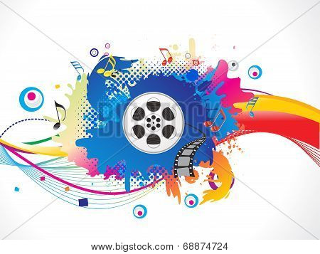 abstract  artistic colorful media explode vector illustration poster