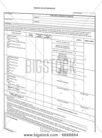 Empty Insurance Form Blank
