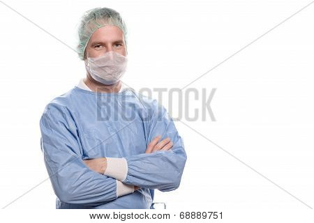 Friendly Nurse Or Doctor In Surgical Scrubs