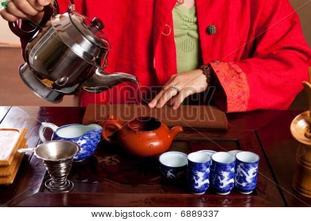 Tea being made in a traditional way poster